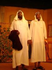 Sam Psenjen and Likarion Wainaina as the Menaechmus Brothers Photo Courtesy of Phoenix Players