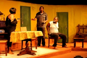 Mumbi Kaigwa, Maqbul Mohammed and Gakunju Kaigwa in Death and the Maiden Picture by Susan Wong