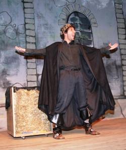 Simon Ammora as King Kali photo by Braeburn Players