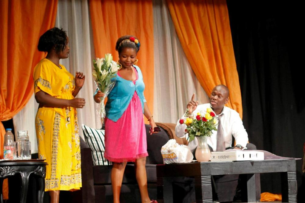 Anita Juma as Olive, Njeri Ngige as Ivy, Brian Ogola as Chris Photo: Zhuri Images
