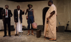 King Herod (Wanjau) and the 3 wise men (Chege, Omollo and Amuoma)