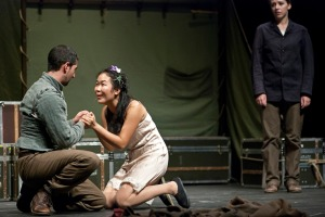 Laertes Ophelia and Horation Photo by Shakespeare's Globe