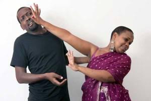 Psenjen and Mwatela as Demetrius and Helena Photo by Charles Kamau